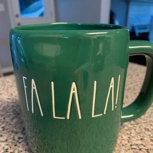 Rae Dunn Fa La La! Coffee mug
